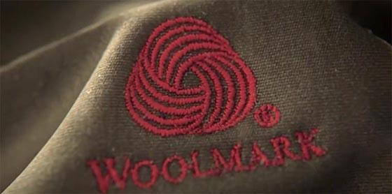 Logo woolmark fait avec cinema 4D