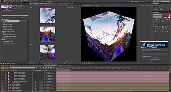 Postproduction VR dans After Effects, avec le plug Skybox