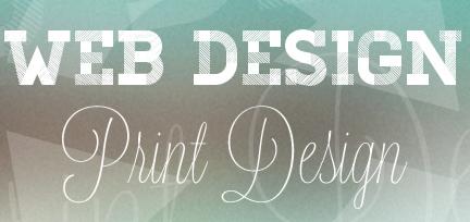 web design print design