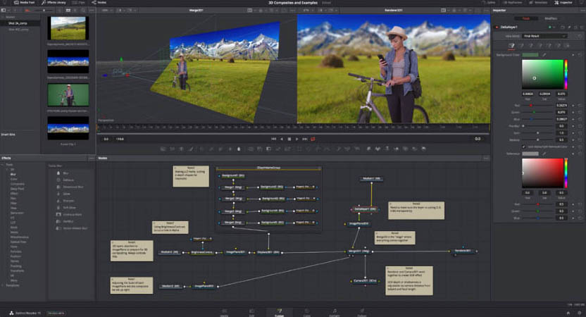 Davinci-Resolve-15-fusion-interface