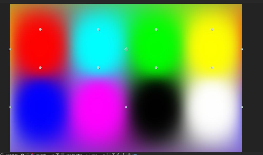 Le magnifique effet dégradé de couleurs VR