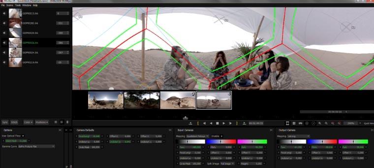 Mistika VR, application de stitch temps réel avec optical flow, stabilisation...