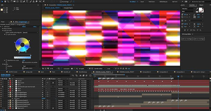 After Effects, mécano infini de compositions, imbrications, bricolages...