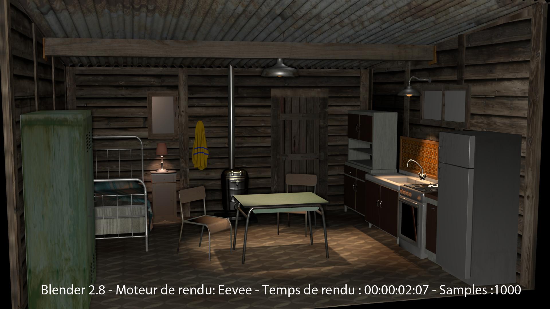 Blender2.8 - image rendu sous Eevee