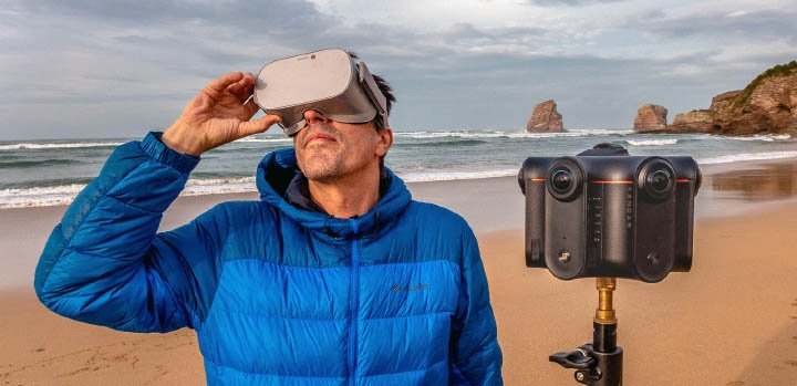 Nanda Fernandez, expert et formateur VR/360 avec la caméra Kandao Obsidian S