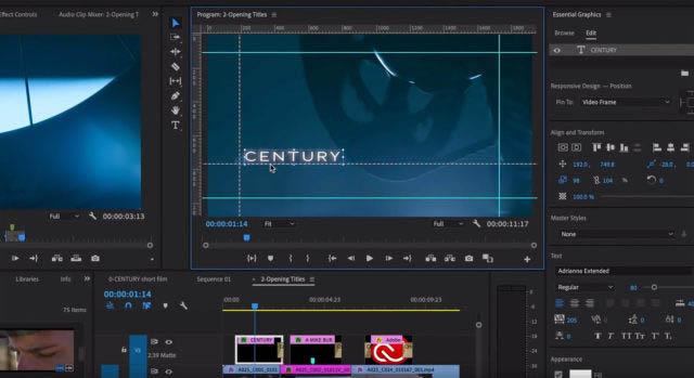 Premiere Pro CC 2019 et ses règles et guides pour travailler graphiquement avec précision, une nouveauté attendue.