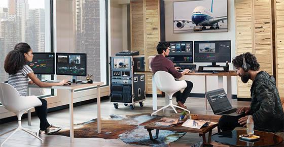 DaVinci Resolve Studio propose des fonctionnalités de travail collaboratif.